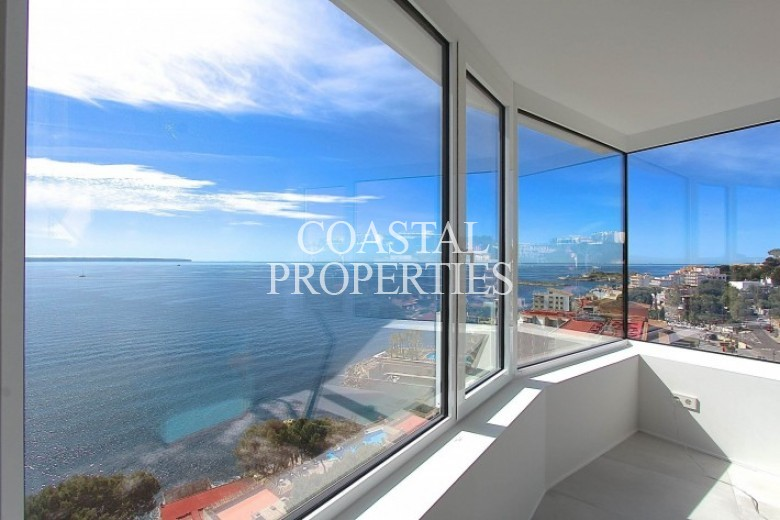 Property for Sale in Illetas, First Line Sea View Penthouse For Sale In Illetas, Mallorca, Spain