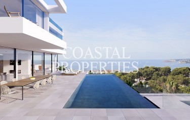Property for Sale in Spectacular New Luxury Modern Villa With Infinity Pool For Sale Costa D'en Blanes, Mallorca, Spain