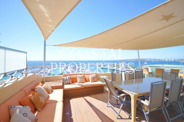 Property for Sale in Unique Amazing Penthouse Overlooking The Marina Puerto Portals, Mallorca, Spain