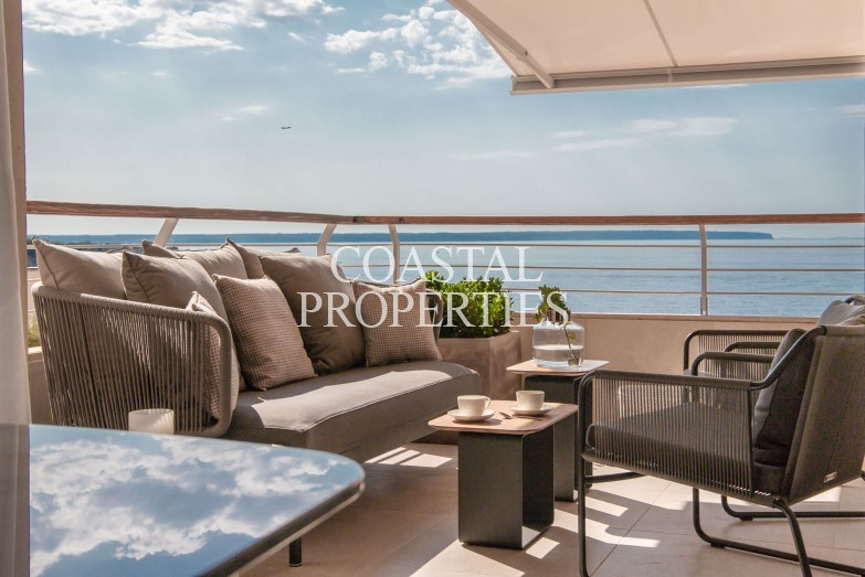 Property for Sale in San Agustin, Stunning first line sea view 3 bedroom modern apartment for sale San Agustin, Mallorca, Spain