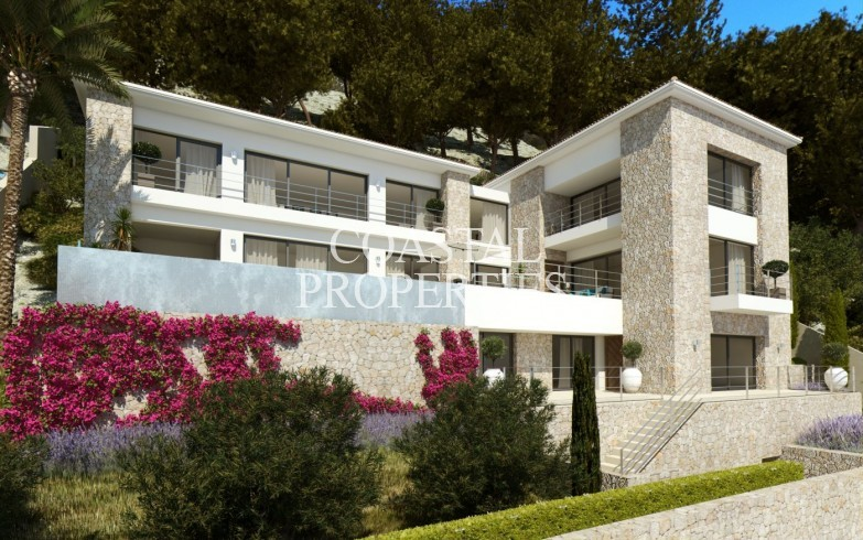 Property for Sale in Sea view plot for sale with a license in place for a new modern villa Puerto Andratx, Mallorca, Spain