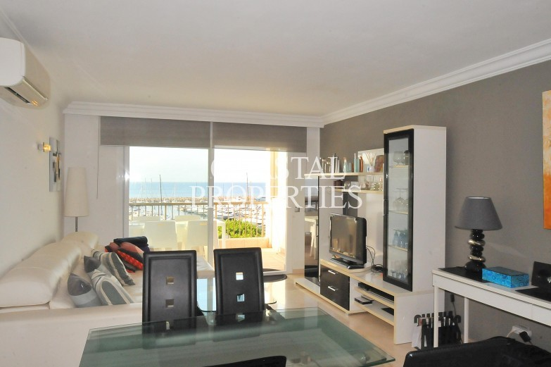 Property for Sale in Luxury sea view apartment next to the marina  Puerto Portals, Mallorca, Spain