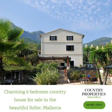 Charming 6 bedroom country house for sale Soller, Mallorca, Spain