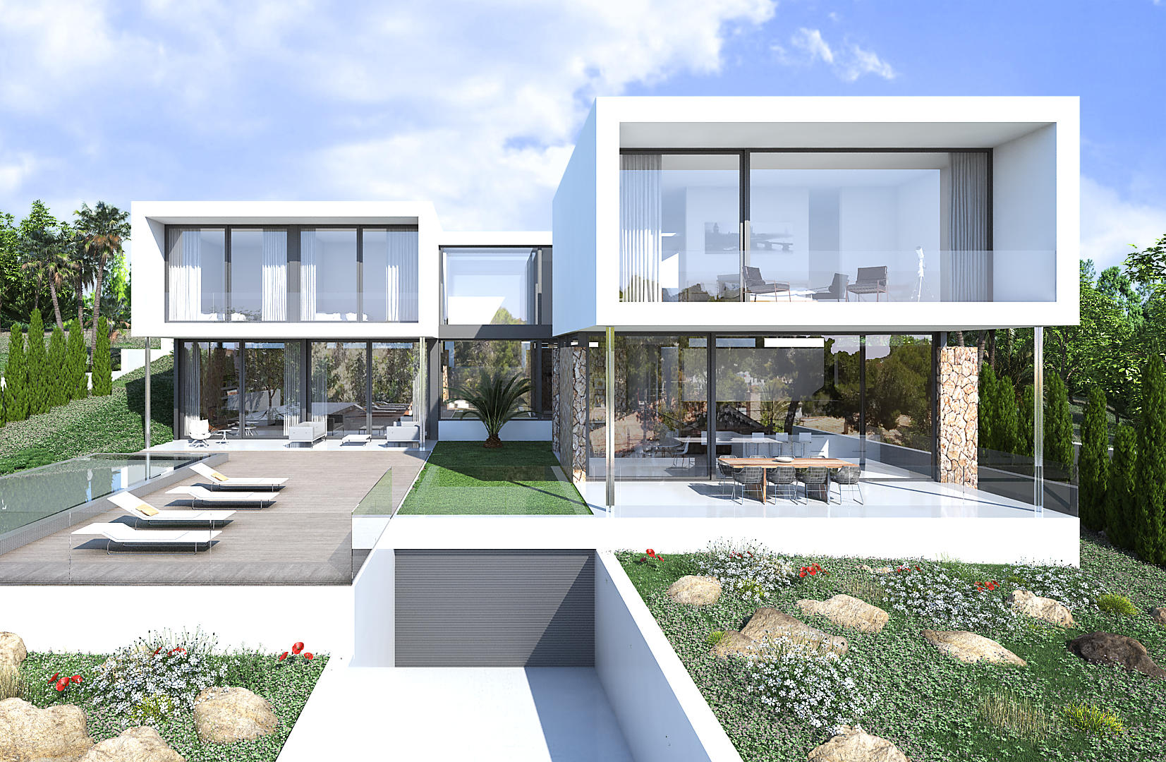 Modern 4 bedroom project for sale in Sol De Mallorca