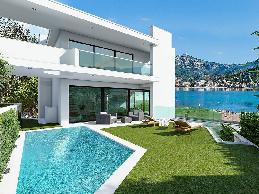 Modern villa under construction in top location Port De Soller