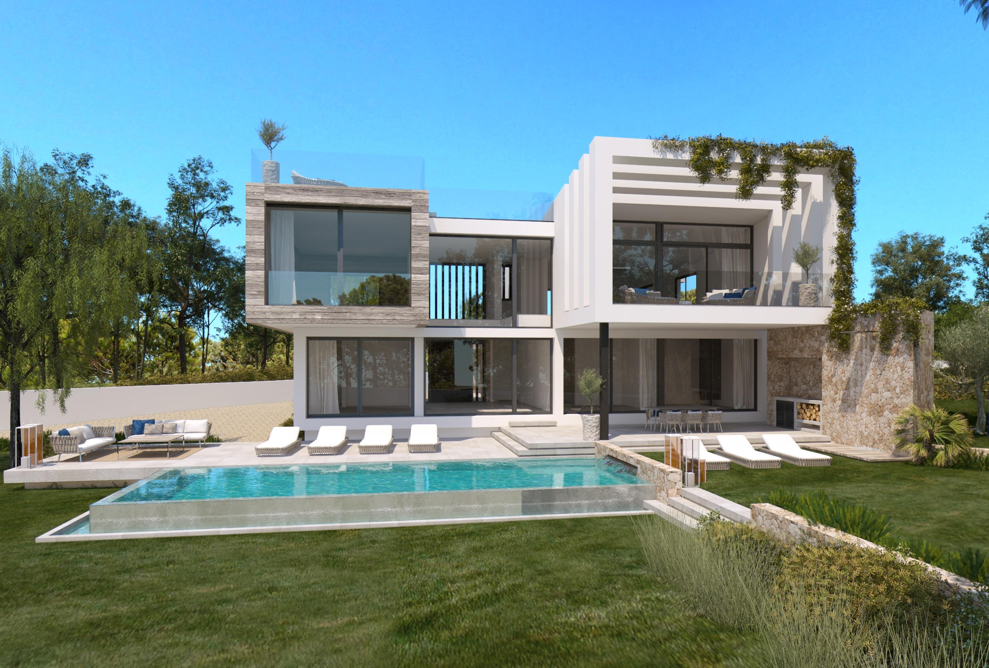 New state of the art 5 bedroom villa project in Cala Vinyes