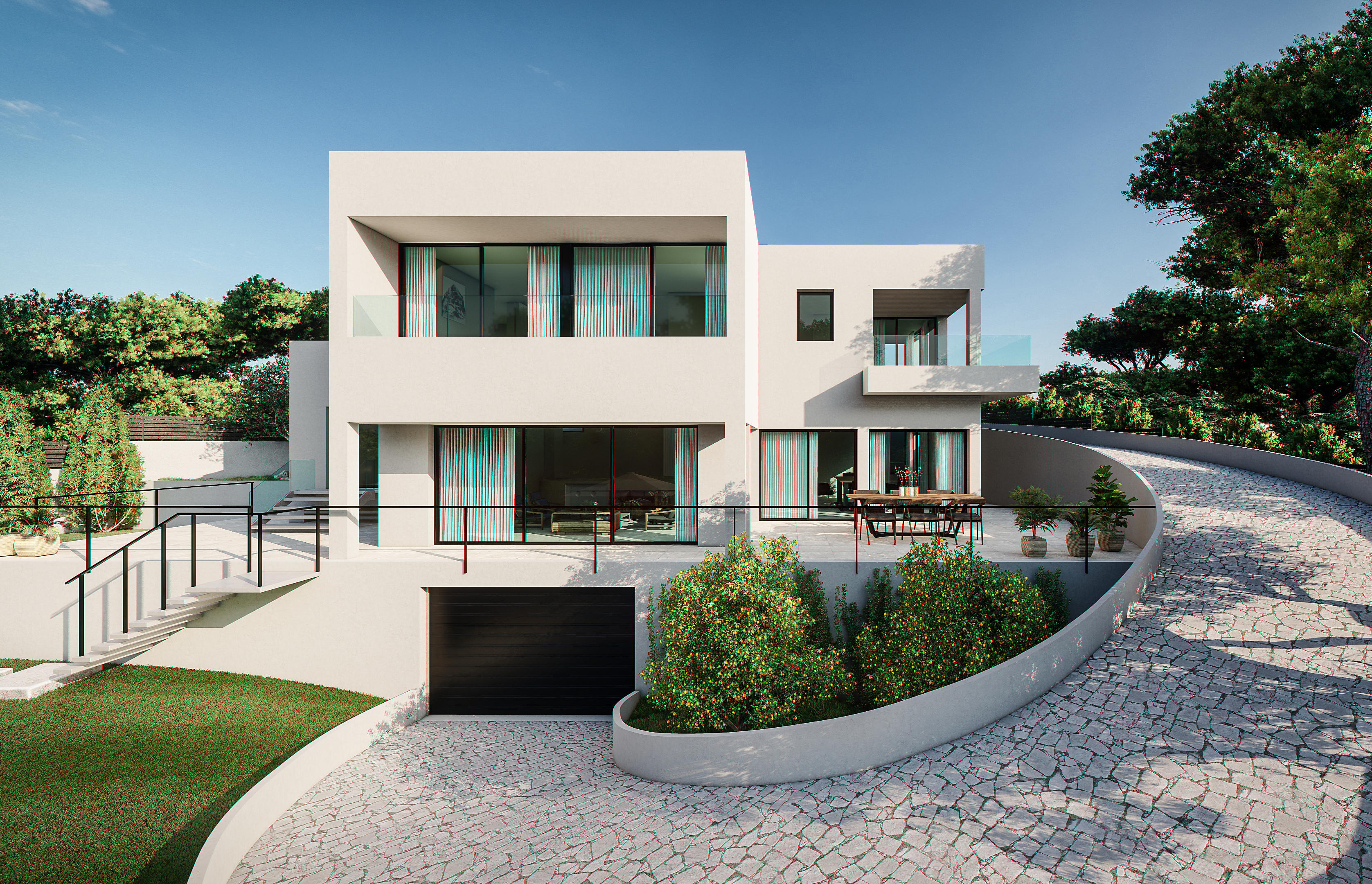 Modern 4 bedroom villa project for sale Cala Vinyes.