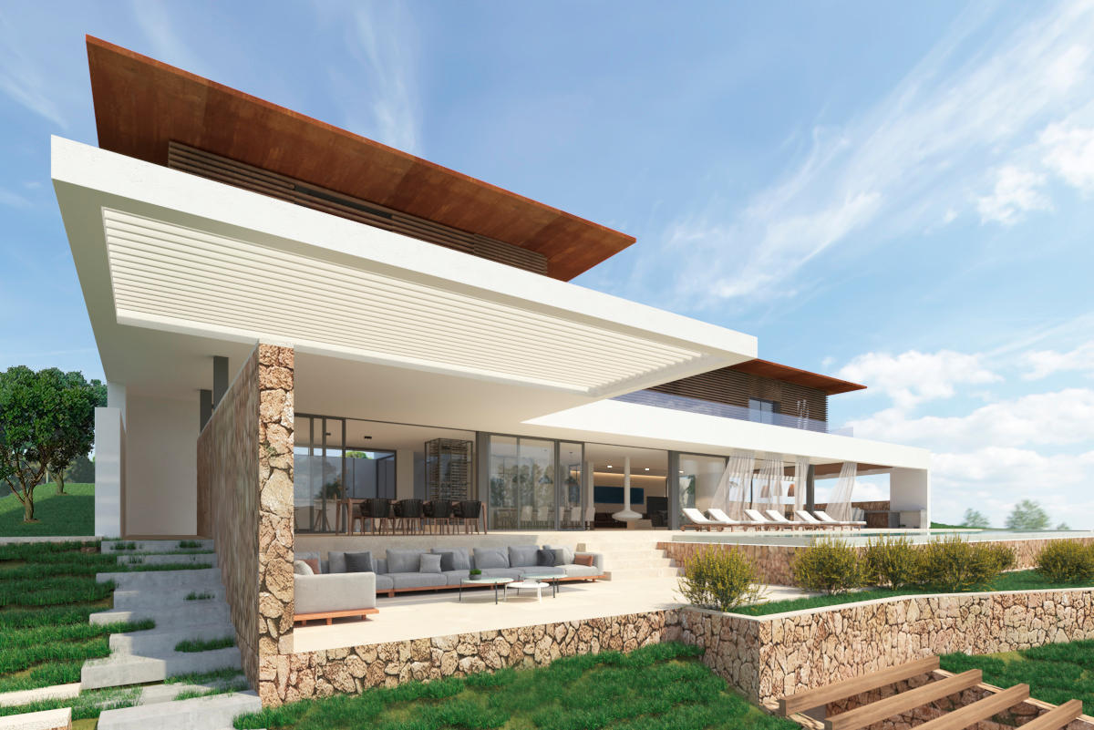 Project for sale with three different options, Modern luxury property in Cala Vinyes